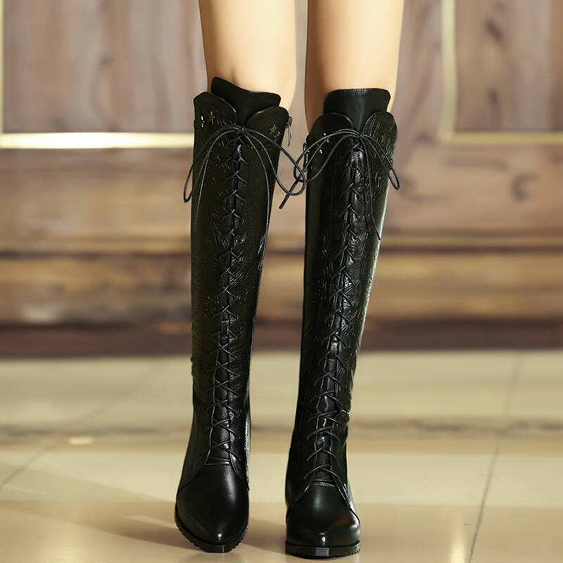 Boots;Knee High Boots;With Heels;Cowgirl Boots;Winter Boots;Combat  Boots;Outfit Boots;Brown Boots;Black Boots;Lace Up Boots;Ide Calf Boots;Leather Boots;Wedge Boots