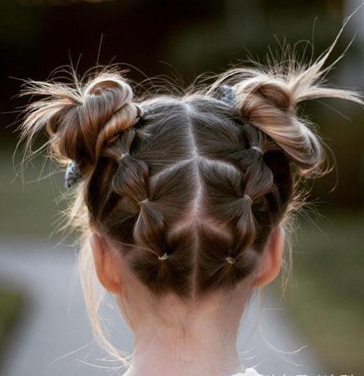 braided hairstyle、children、kids、for school、little girls、children's hairstyles、for long hair