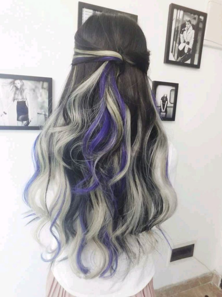 Hair Dye; Colorful Hairstyle; Half And Half; DIY Hair Dye; Personalized Hair Dye; Popular Hair Dye