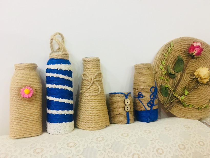 Hemp Rope; DIY; Hand-made; Environmental Protection; Waste Utilization; Home Decoration; Creative Design; Decorative Inspiration
