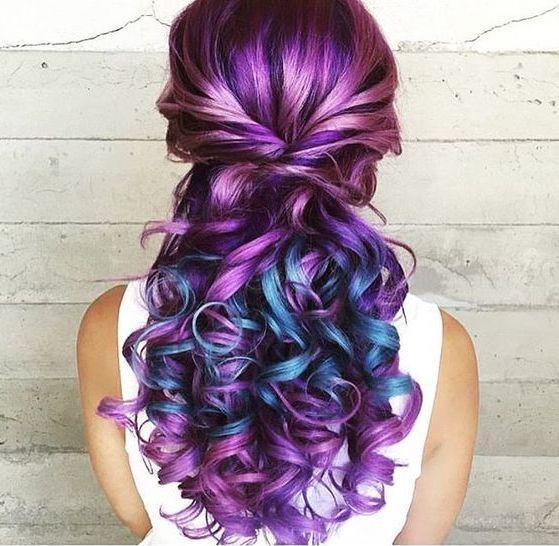 Hair Dye; Colorful Hairstyle; Half And Half; DIY Hair Dye; Personalized Hair Dye; Popular Hair Dye