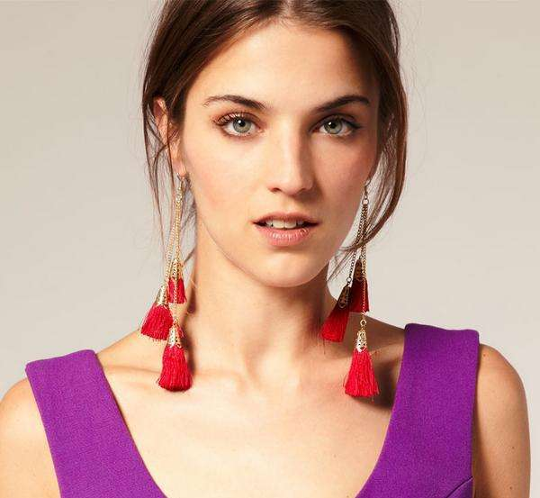DIY;dangle;simple;handmade;hoop;accessories;tassel