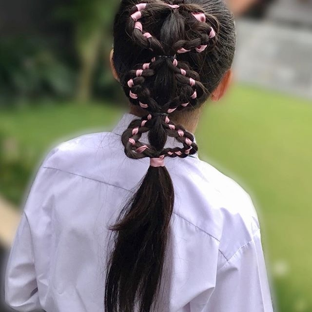 Hairstyle 、Children、Kids、For School、Little Girls、Children's Hairstyles、For Long Hair、Cute Child、Child Photography;Braided Hairstyle;Editing